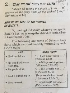 Take Up The Shield Of Faith